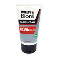Biore MEN Facial Foam - Acne Defense Anti-Bacterial 100g