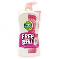 Dettol Shower Gel + Refill - Skin Care Anti Bacterial 950ml + 250ml