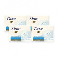 Dove Soap Bar - Gentle Exfoliating Beauty Cream Bar 100g x 4s