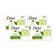 Dove Soap Bar - Fresh Touch with Cucumber & Green Tea Scent 100g x 4