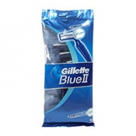 Gillette Razors - Blue II Disposable - Chromium Coating (5s)