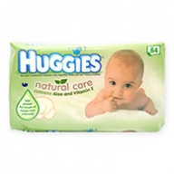 Huggies Natural Care Baby Wipes With Aloe Vera & Vitamin E 64 wipes