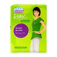 Kotex Pantyliners - Fresh Longer & Wider 32s