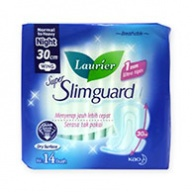 Laurier Sanitary Pads - Super Slimguard 30 cm Wings 14s