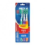 Oral-B Toothbrush - All Rounder 123 3-Way Clean - Medium 3s