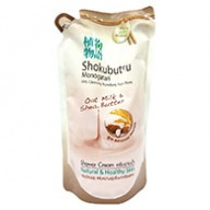 Shokubutsu Monogatari Oat Milk and Shea Butter Shower Cream Refill 500ml