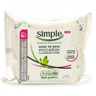 Simple Facial Cleansing Wipes - Micellar 25 Wipes