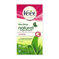 Veet Wax Strips Natural Inspirations For Normal Skin W/Aloe Vera 20s