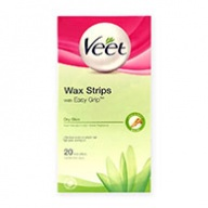 Veet Wax Strips For Dry Skin W/Aloe Vera & Lotus Flower Fragrance 20s